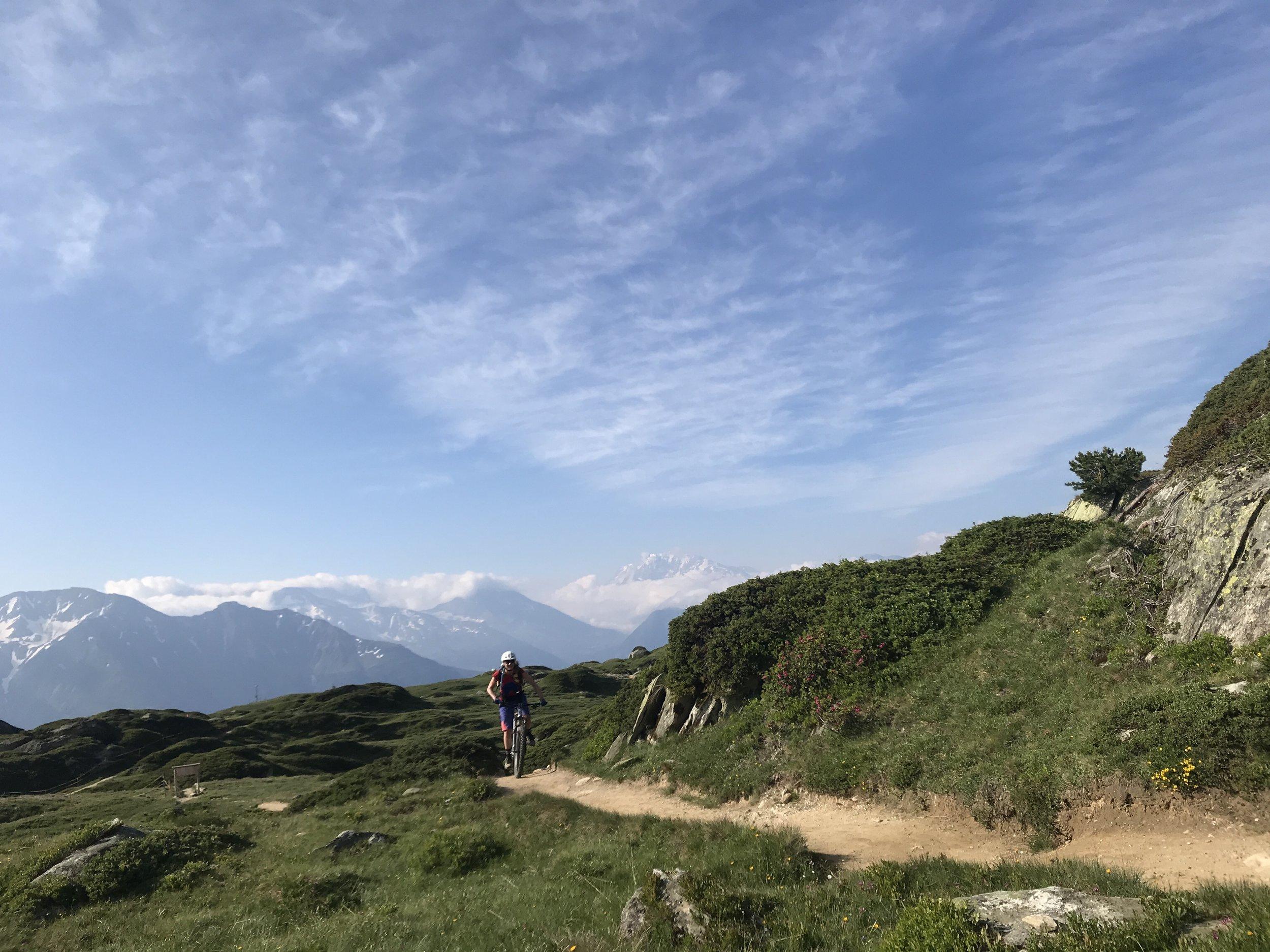 Mountainbiken vor schönster Kulisse