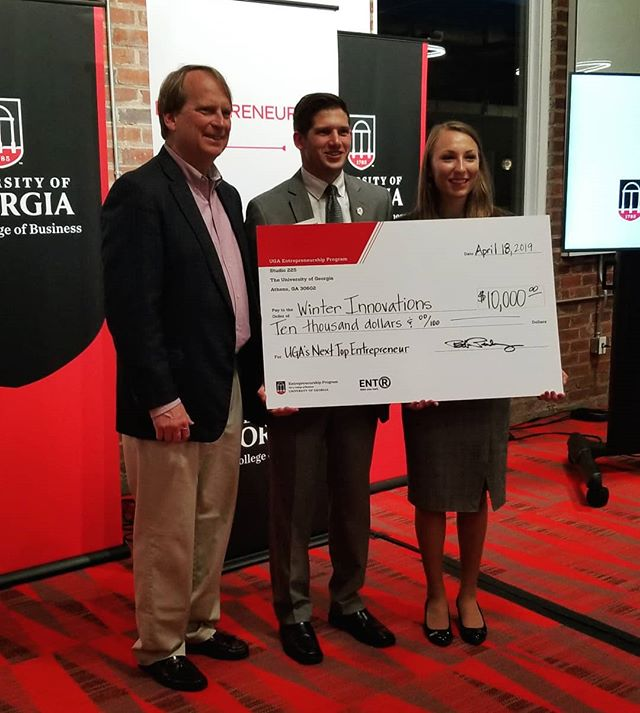 Congratulations to Winter Innovations, winner of UGA's Next Top Entrepreneur and $10,000! We can't wait until they're providing the better technology for whip stitches everywhere! ENTR wants to say thank you to our judges, our sponsors, the other contestants, Last Resort Grill for catering, and everyone who came out to listen to the brilliant pitches.  Make sure to check out Students 2 Startups and Life's A Pitch tomorrow!