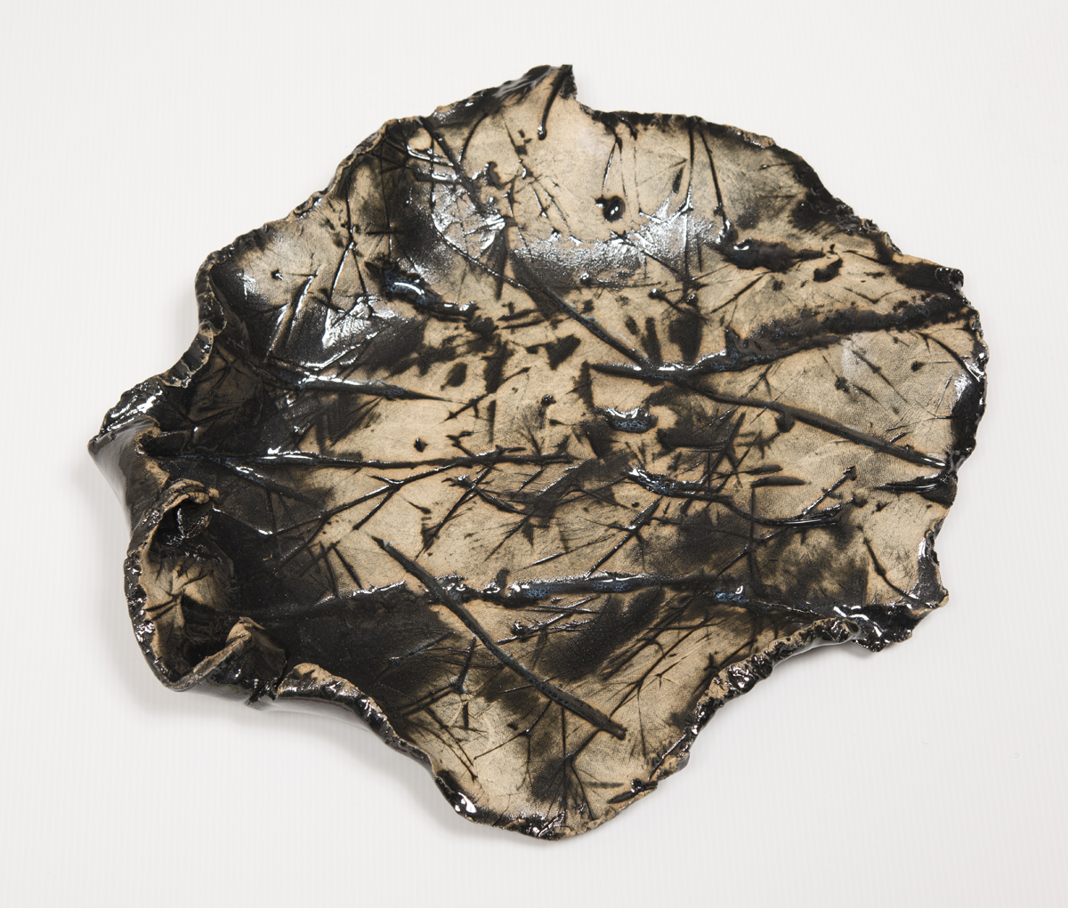 Alan Sonfist  Ceramic Relic of Hemlock Forest #5, 1971  High Fired Stoneware 18 x 15 inches