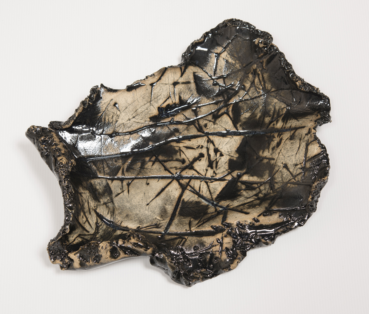 Alan Sonfist  Ceramic Relic of Hemlock Forest #3, 1971  High Fired Stoneware 17 x 15 inches