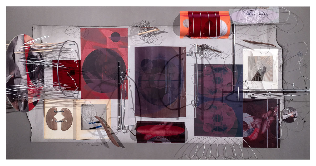 Untitled 020 2016 Mixed Media on Archival Arches Aquarelle Rag Paper 44 x 84 inches