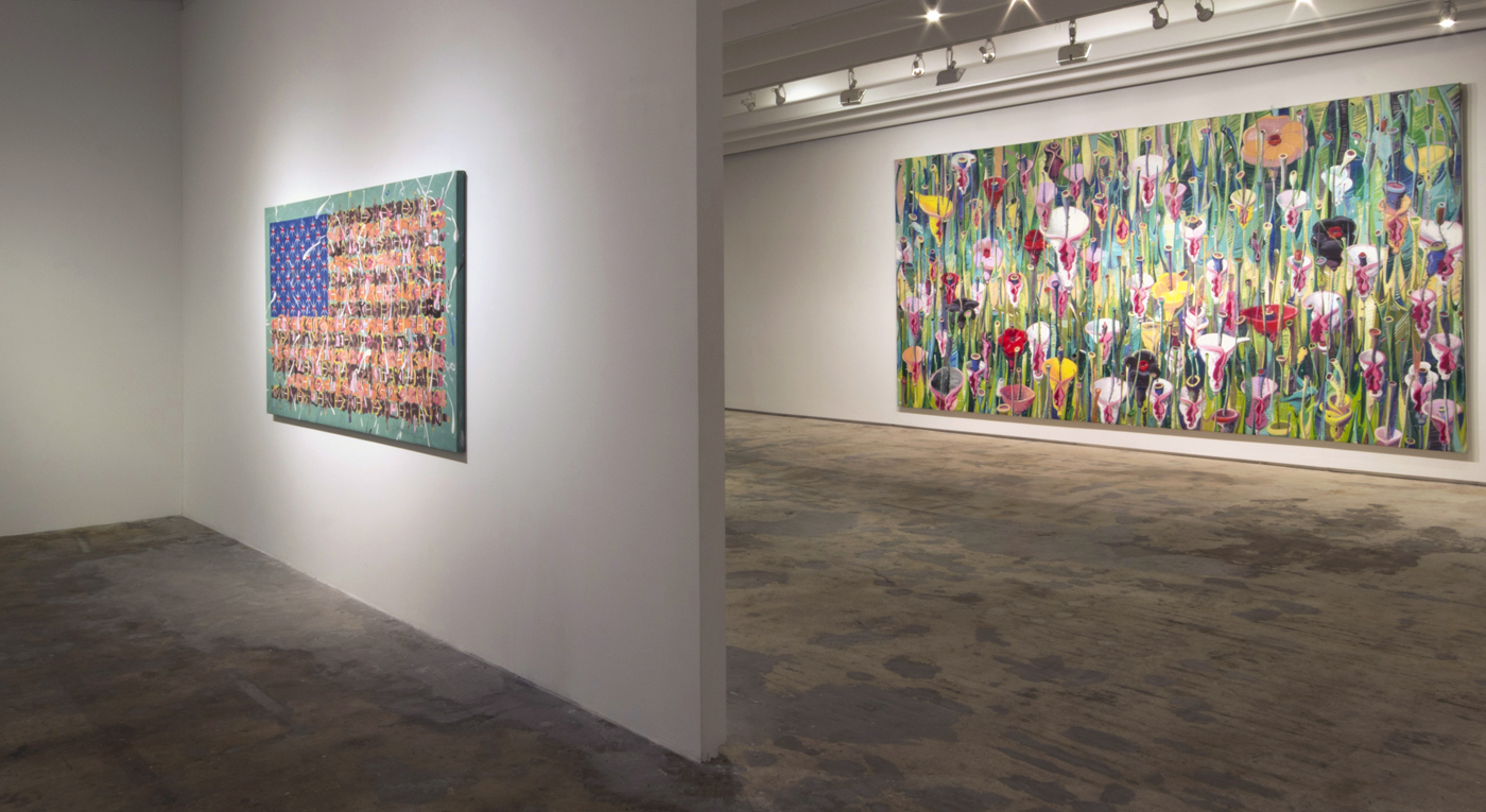 Installation view of  Tomás Esson: Miami Flow  at Fredric Snitzer Gallery