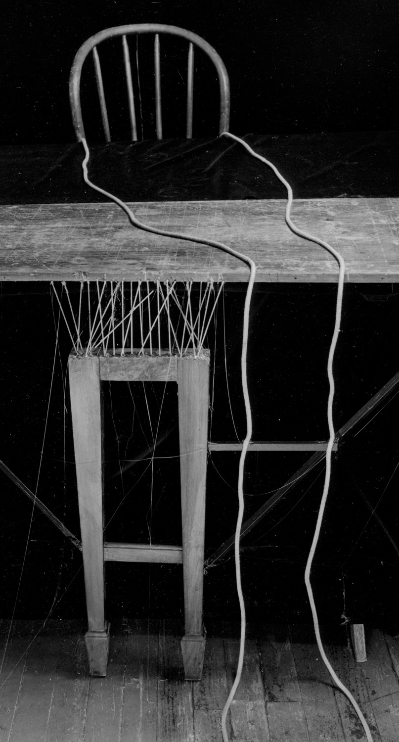 """Rope and Chair, 1984 vintage gelatin silver print. 22 x 11 inches (29 1/2 x 18 1/4"""" framed). Edition 6/13"""