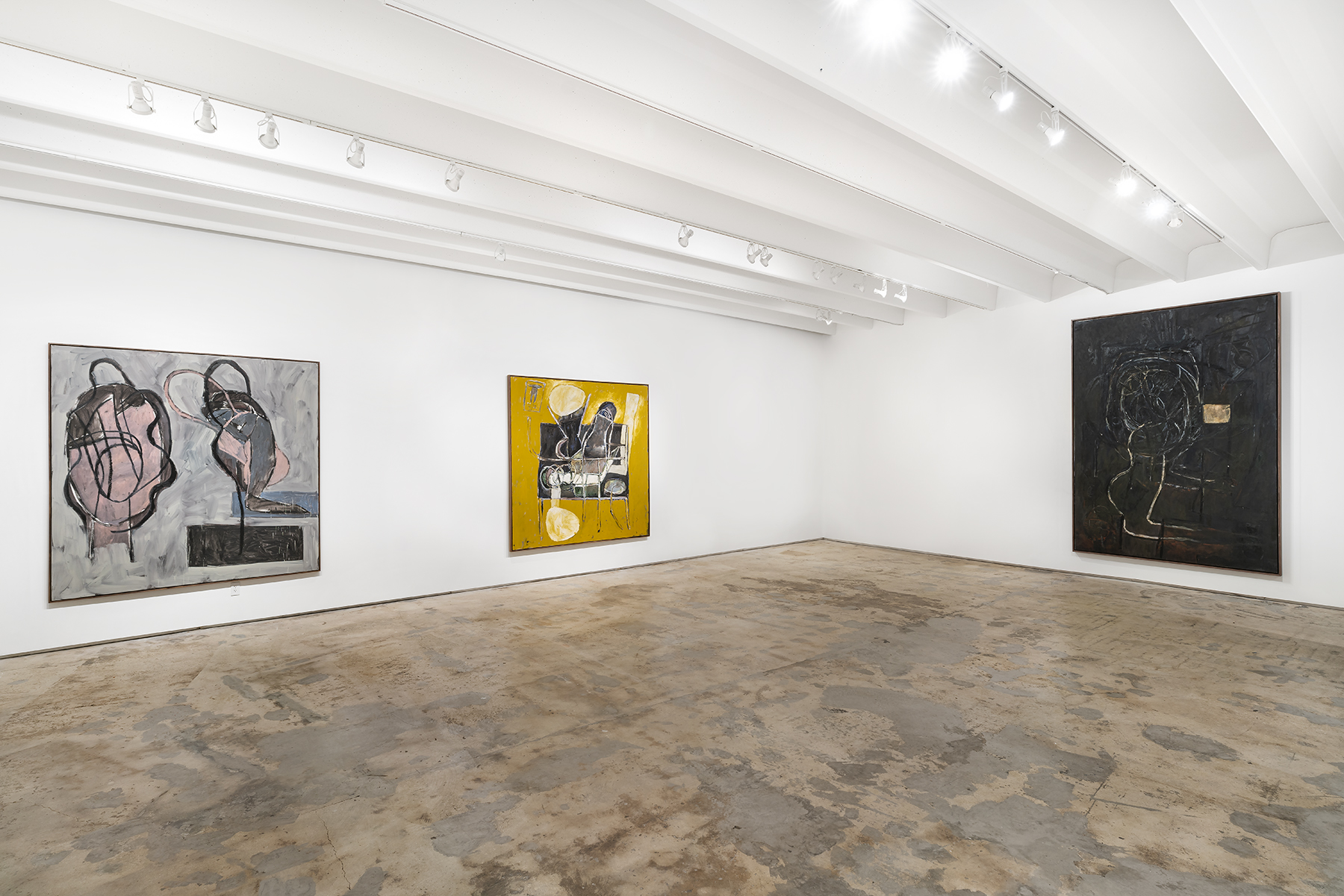 Carlos Alfonzo: Paintings  at Fredric Snitzer Gallery, installation view (all images courtesy Fredric Snitzer Gallery and all photos by Zach Balber)