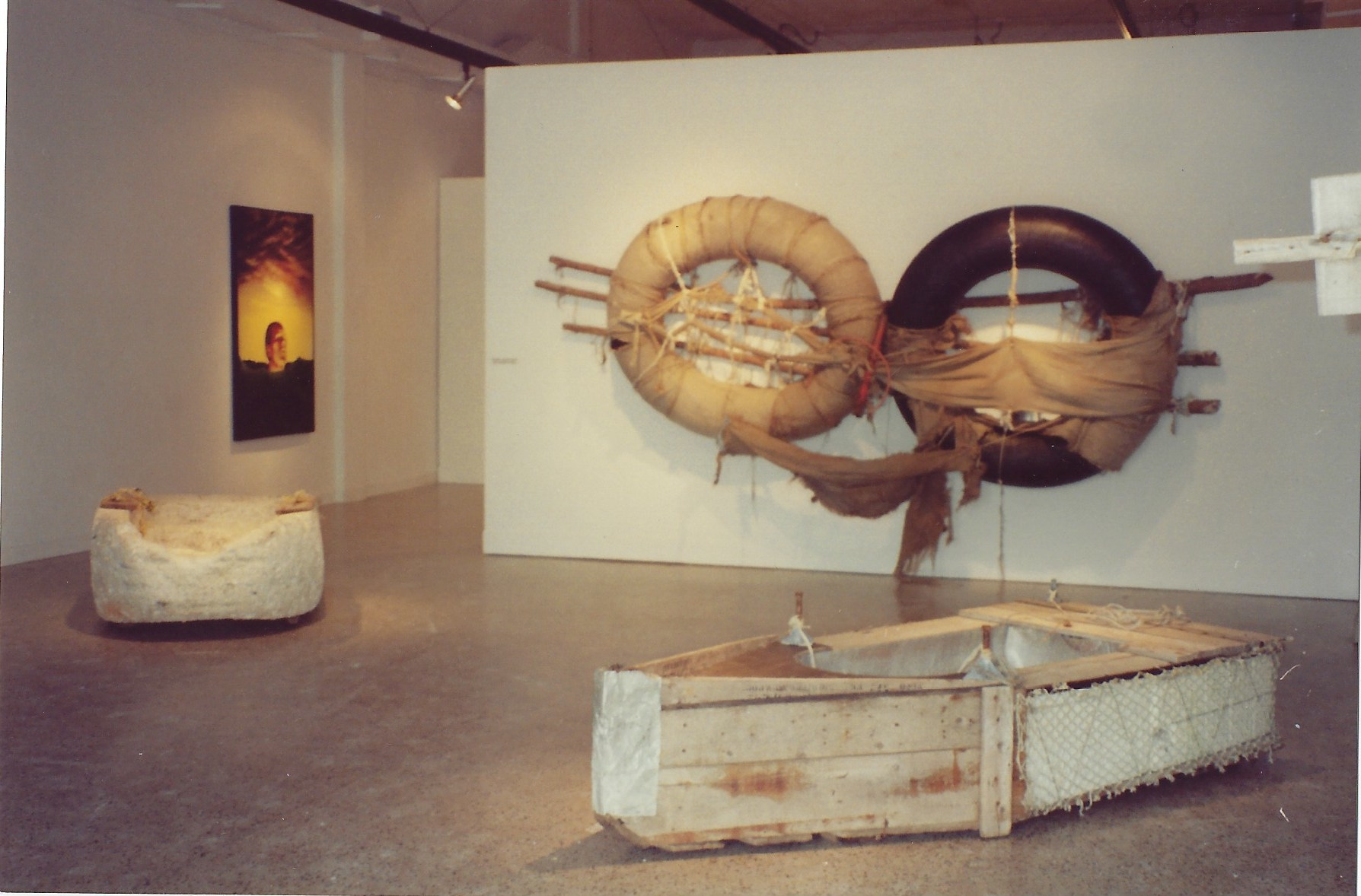 Installation view of  They Would Rather Die,  1991