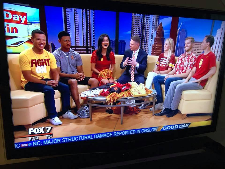 2018 Club Board Members are Interviewed Ahead of the USC/UT Game on Fox 7 Austin