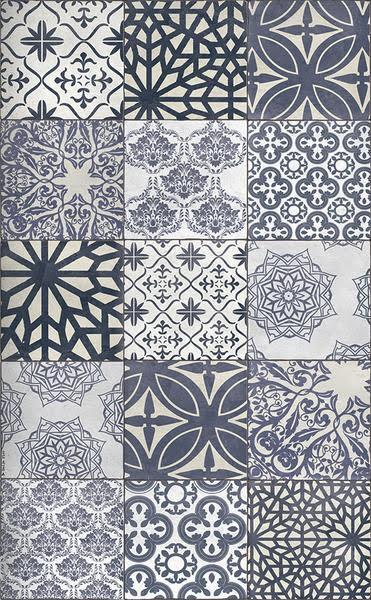 Beija Flor Ecectic Blue Floor Mat Medium