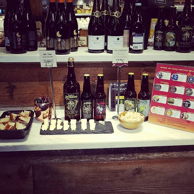 @thebrewworks is here @dibrunobottleshop until 6p sampling their #tastybrews alongside #tastycheeses #beerandcheese #bestfriends #locallove #dibrunos