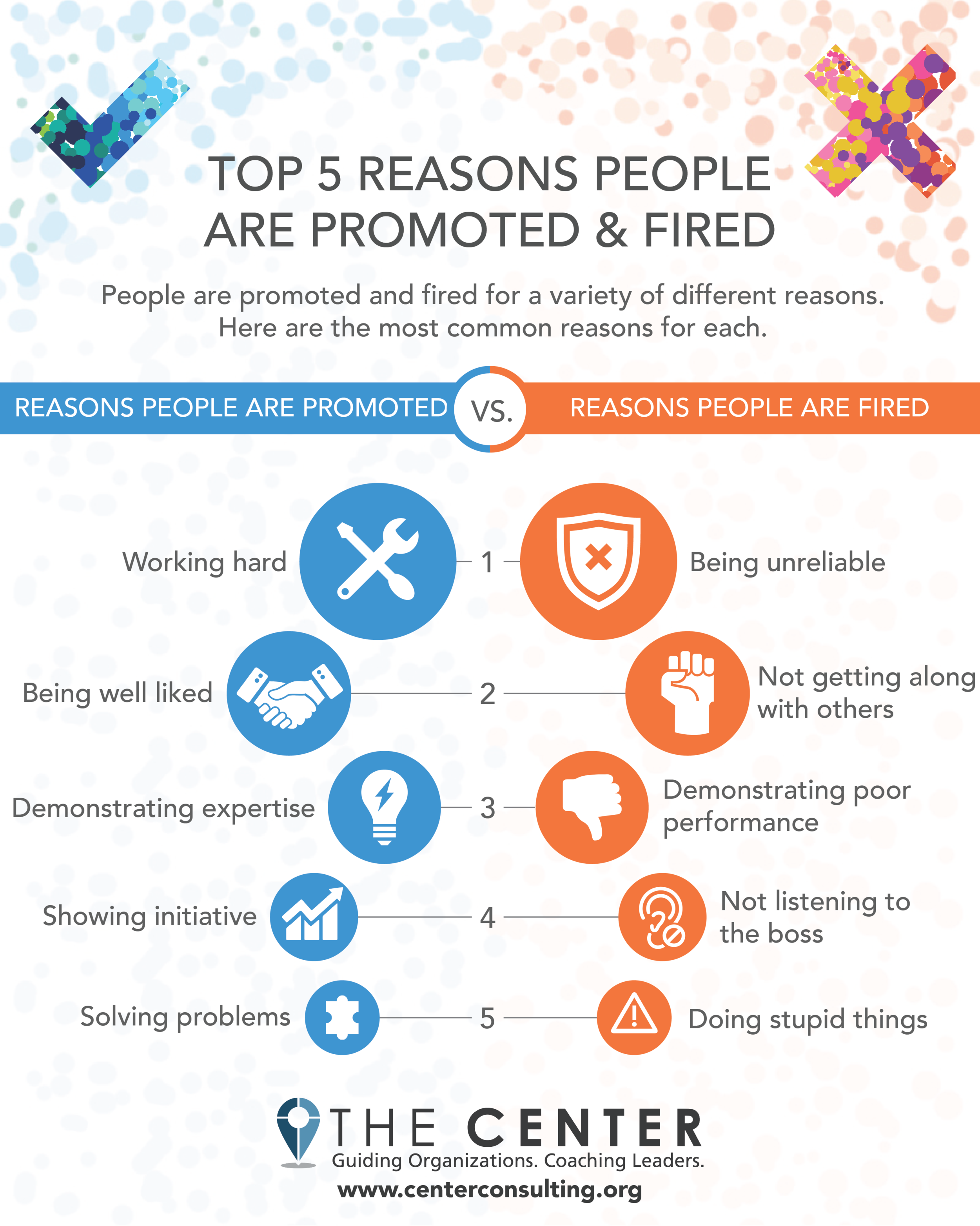 Top 5 Reasons People Are Promoted & Fired