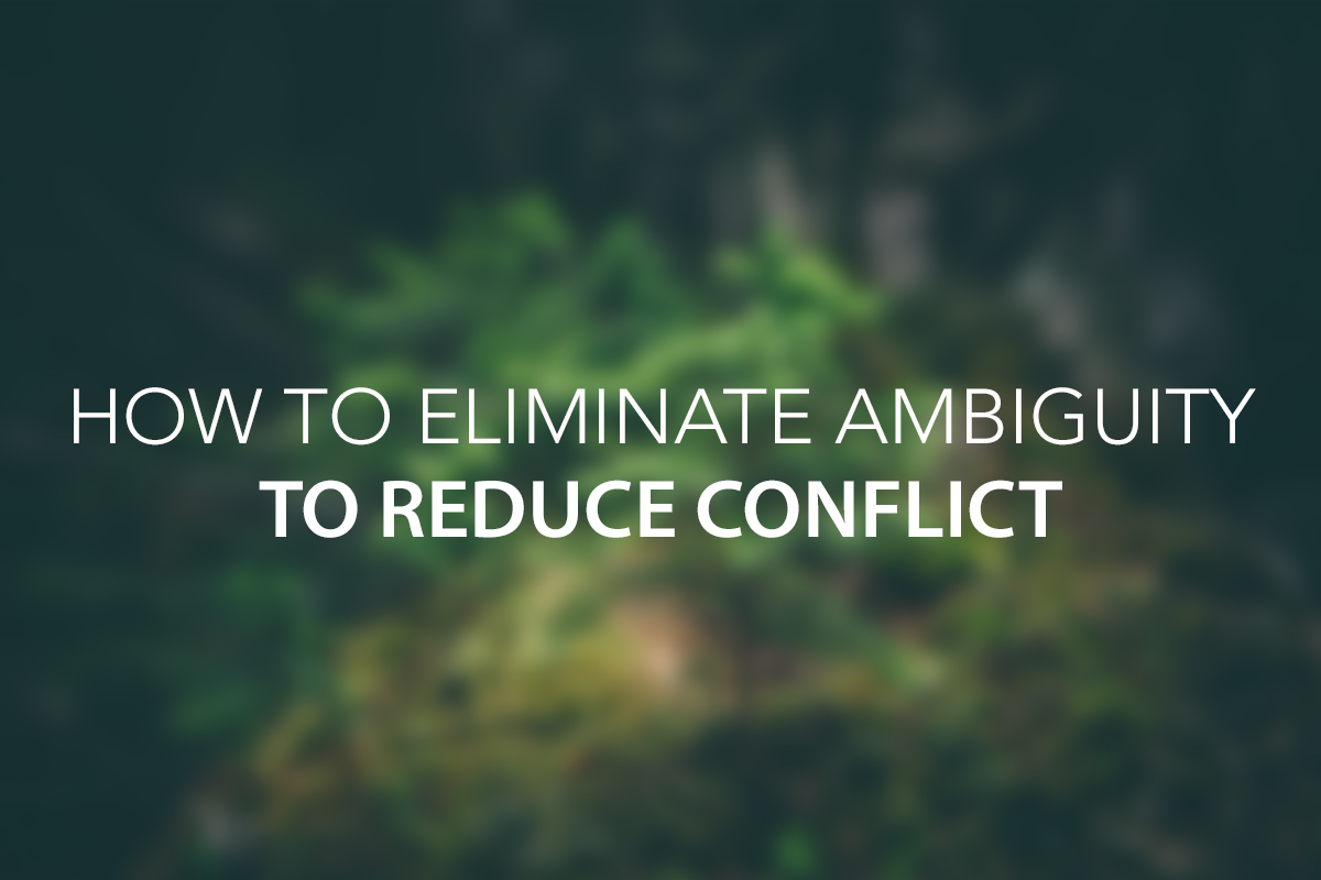 How to Eliminate Ambiguity to Reduce Conflict - The Center Consulting Group - Leadership Coaching and Organizational Consulting for Businesses, Non-profits, and Churches