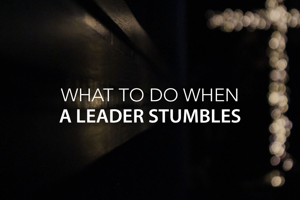 What to Do When a Leader Stumbles -The Center Consulting Group - Leadership Coaching and Consulting for Businesses, Churches, and Non-Profits