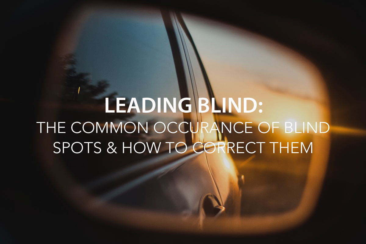 Leading Blind: The Common Occurrence of Blind Spots & How to Correct Them - The Center Consulting Group - CCG - Leadership Coaching and Consulting for Businesses, Churches, and Nonprofits
