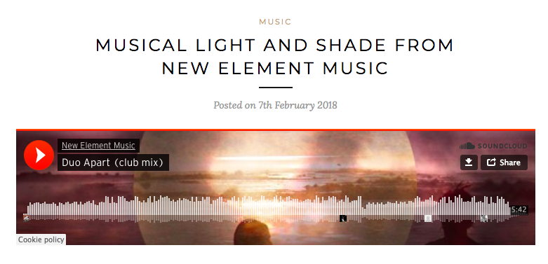 A&R_factory_article about New Element Music duo Apart club mix track.png