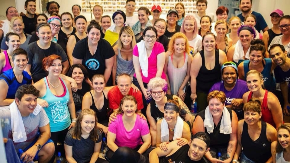 Jensen and Danneel Ackles hosted a fundraising event for Out Youth and Random Acts at SoulCycle Domain Northside in September 2018.