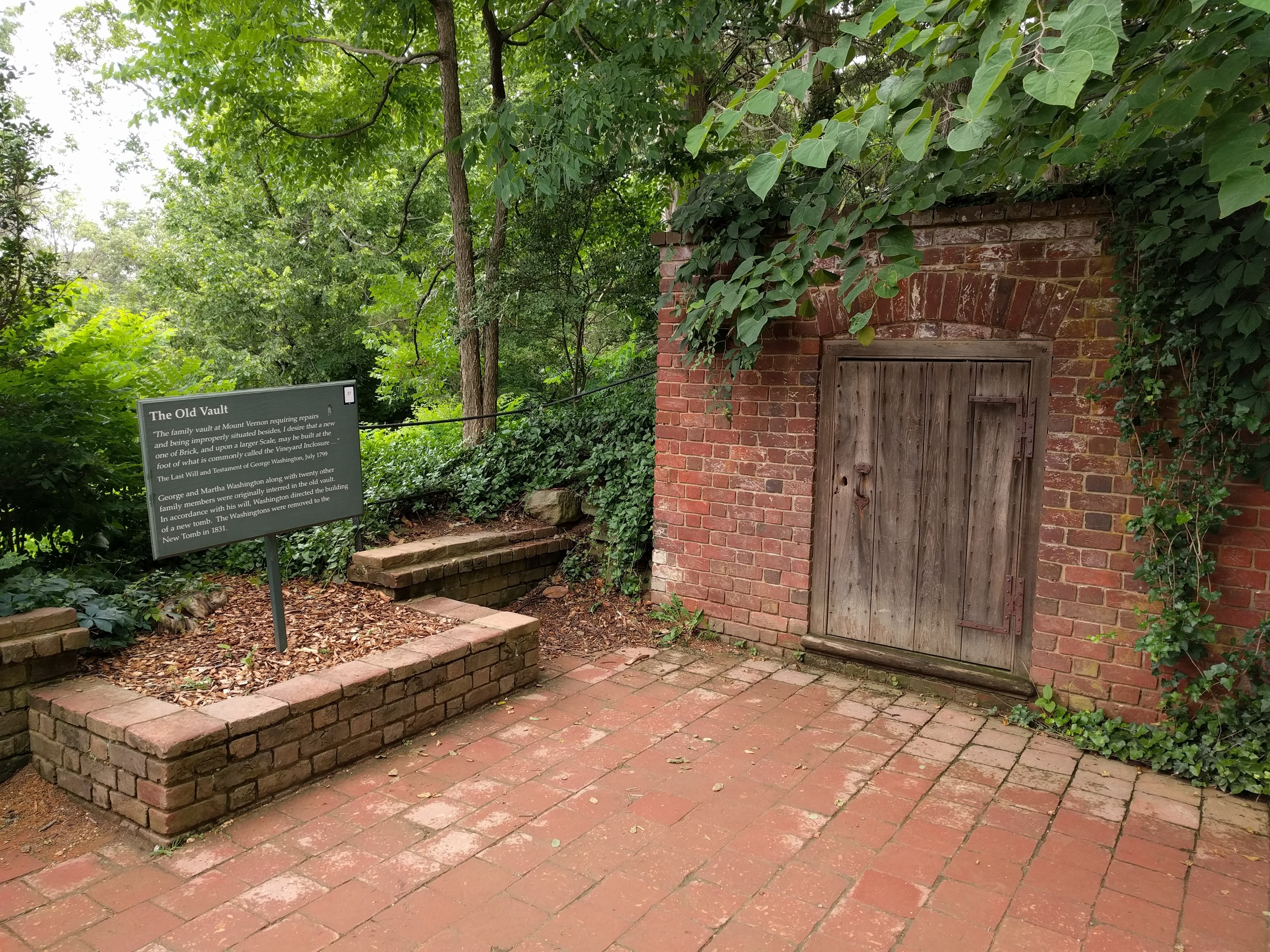 Where the Washingtons used to be buried