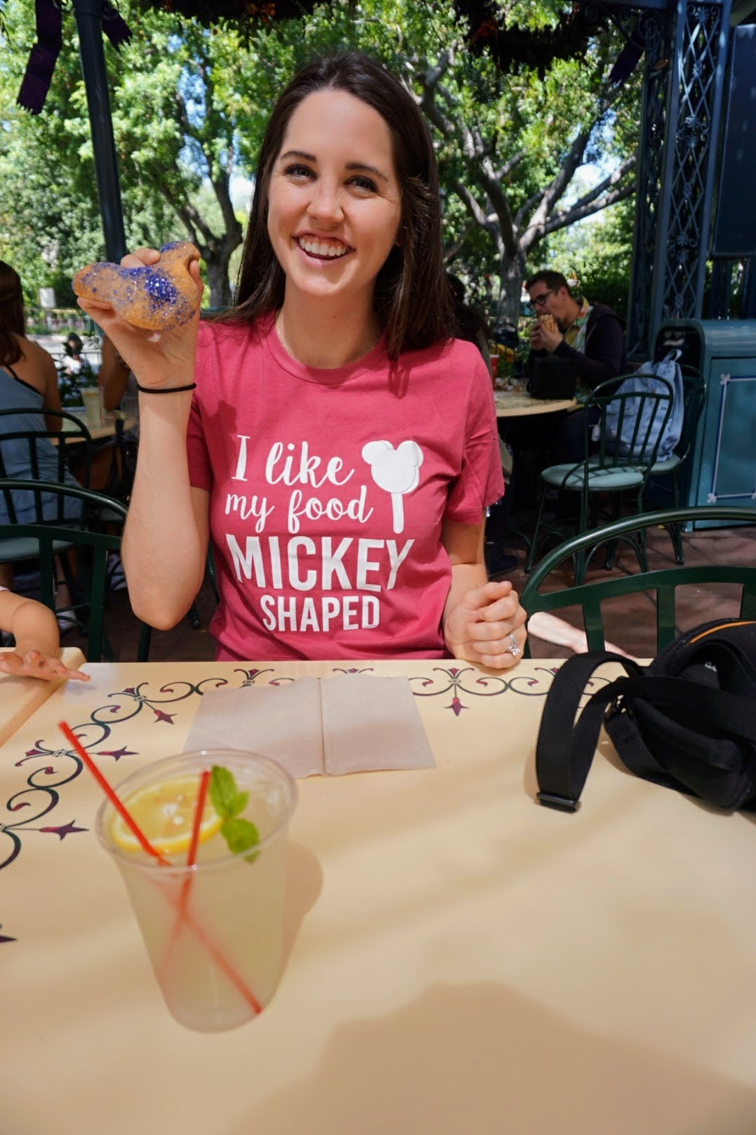 Mickey-shaped Beignets - Mint Julep Bar in Disneyland (they currently have blackberry for the seasonal flavor and it is SO GOOD)