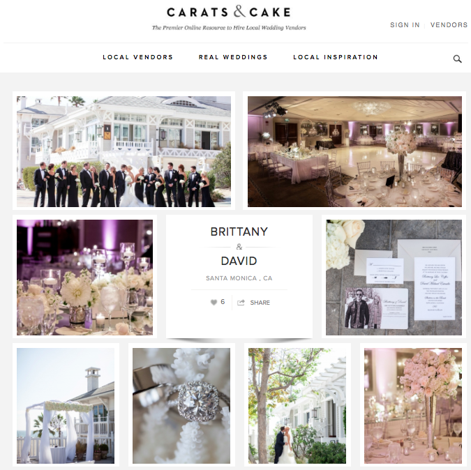 Brittany + David | Carats & Cake June 8, 2016 -  Read Article