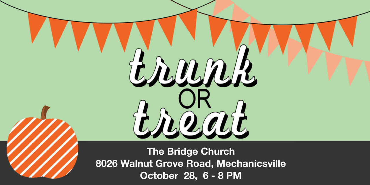 We need people who are willing to dress up themselves and their trunks. you will hang out at your car, pass out candy, and share the love of Jesus with the children and parents who come by. The kids and parents will have an opportunity to vote for their favorite trunk.