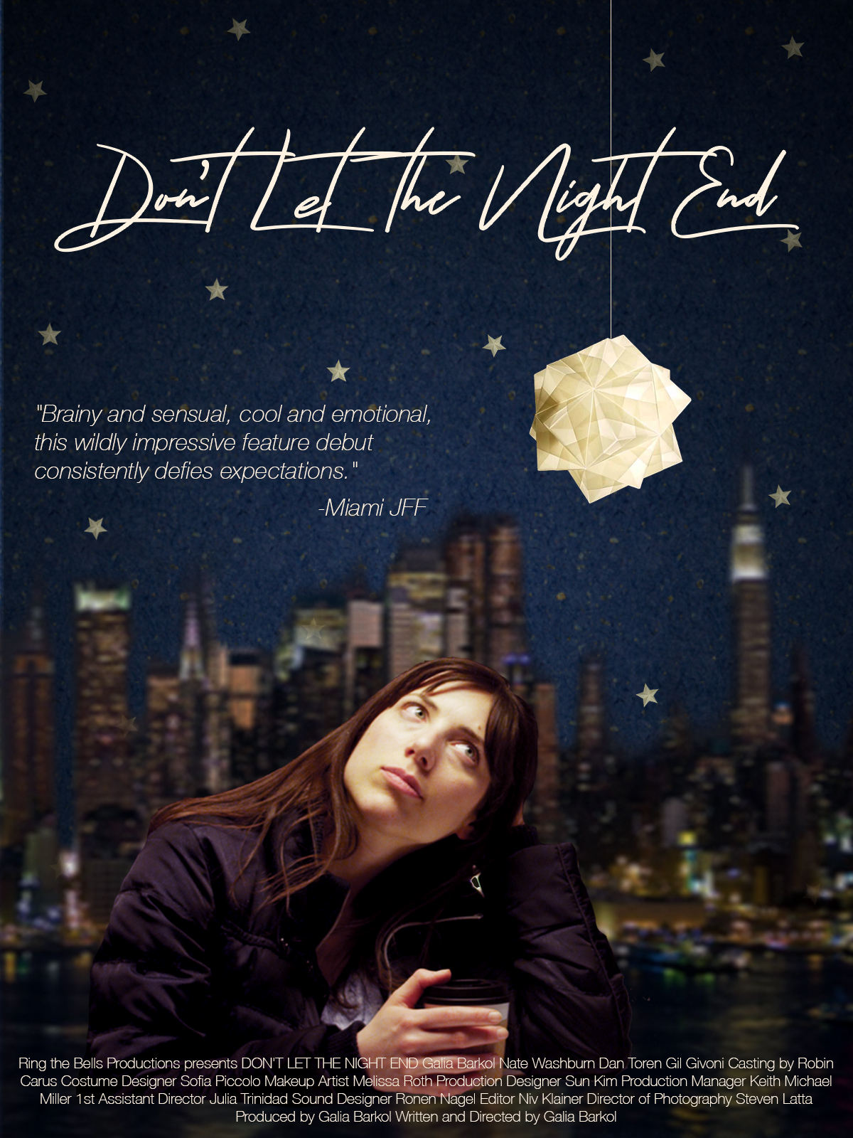 Galia Barkol don't let the night end poster