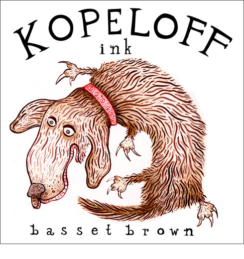 Basset Brown Colored Ink Logo