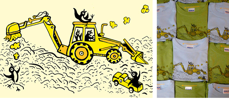 Children's Tractor T-Shirt for Themed Birthday Party
