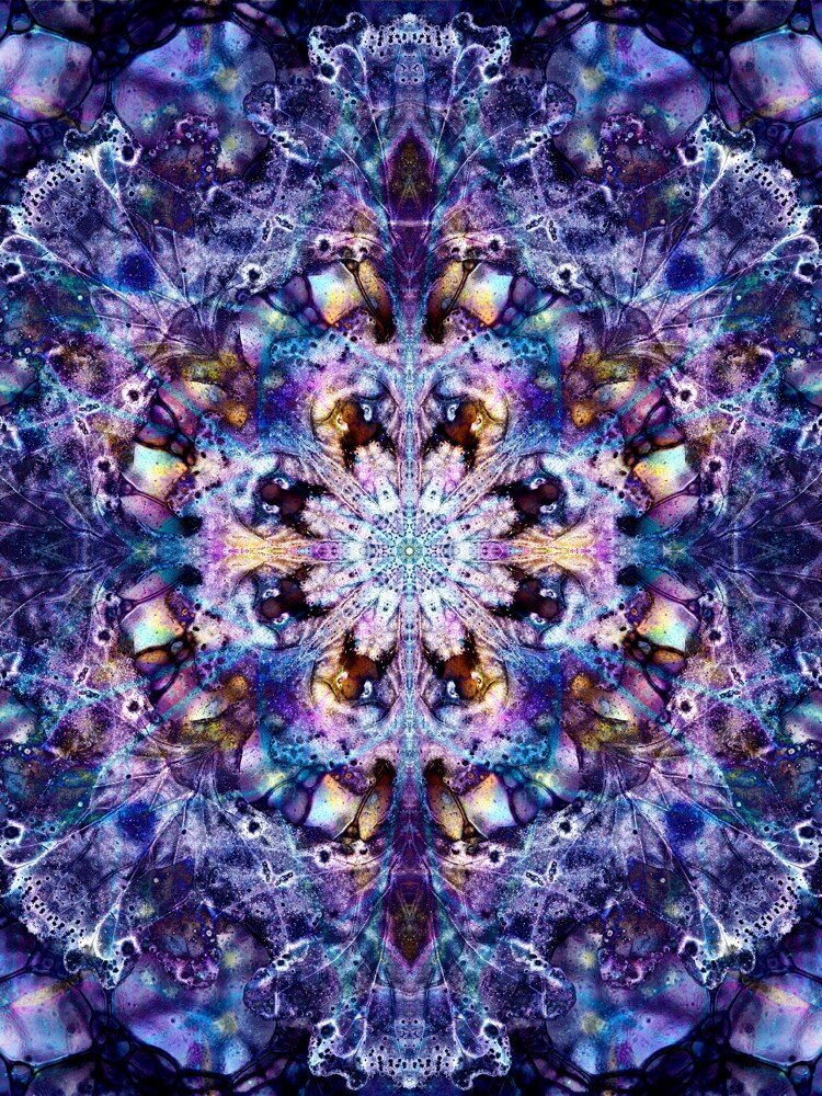 oak mandala bubbles oil irridescence purple haze 18x24 print.jpg