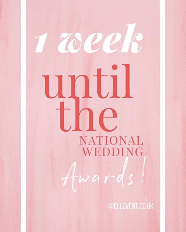 E E E eek!!! 1 week! ✨✨Just 1 week until the national wedding awards in Leicester!!! If you haven't already done so, please click on the link in my bio and vote for Ell'Event & Wedding Planning under the Wedding Planner category. Thank you 😊 xx #natweddingawards2019 #bestweddingplanner #ukweddingplanner #destinationweddingplanner #mallorcaweddingplanner