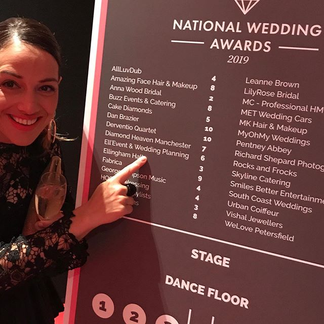 What an amazing night! Well done #natweddingawards for putting on such a wonderful awards night! I'm very proud to have been nominated and have the chance to meet so many amazing businesses within the industry❤️🥂! Well done everybody 👏🏼! @mk_hairandmakeup_ @vjogiya @berkeleycastleweddings @ktvvenuestylists