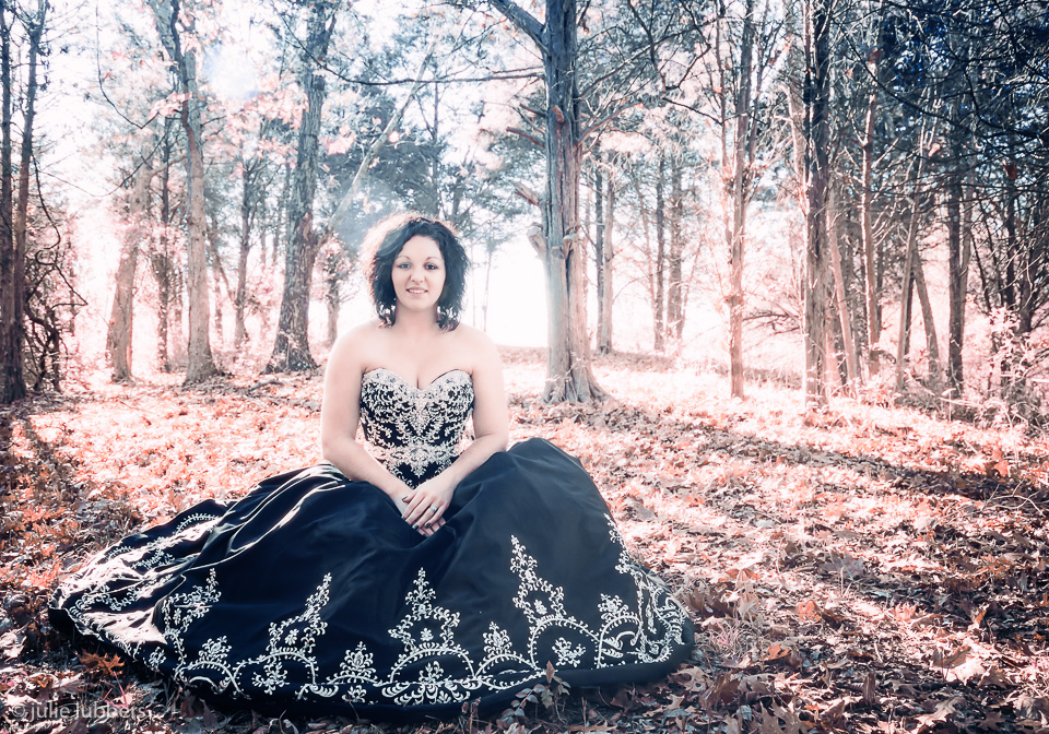 Courtney's Bridal Portrait in the Woods