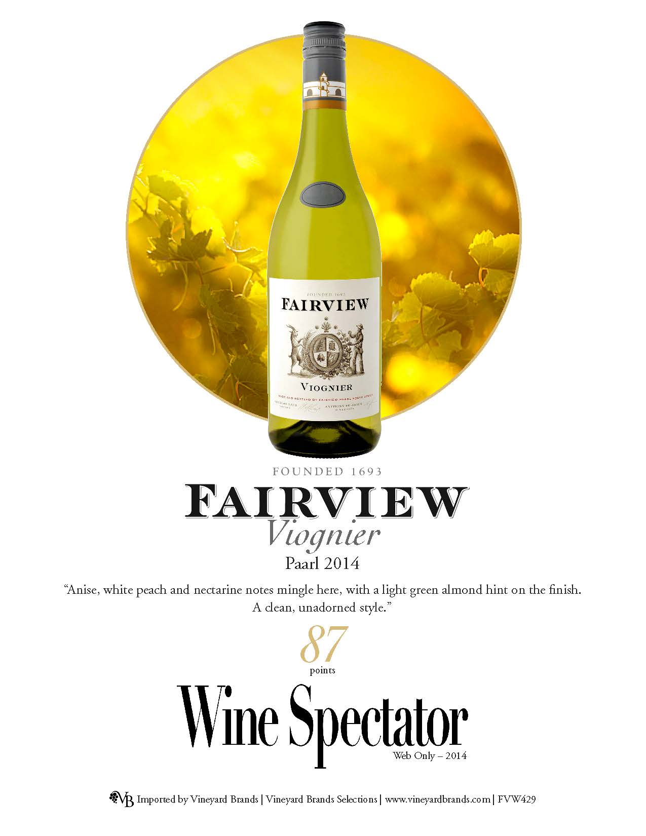 Fairview Viognier 2014