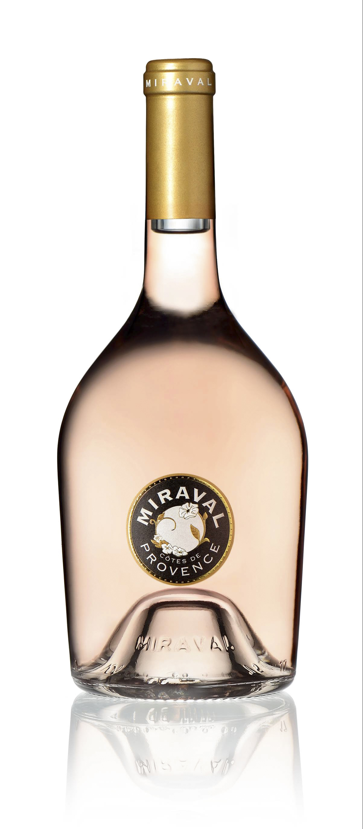 Perrin Miraval Côtes de Provence Rosé Bottle_with reflection.jpg