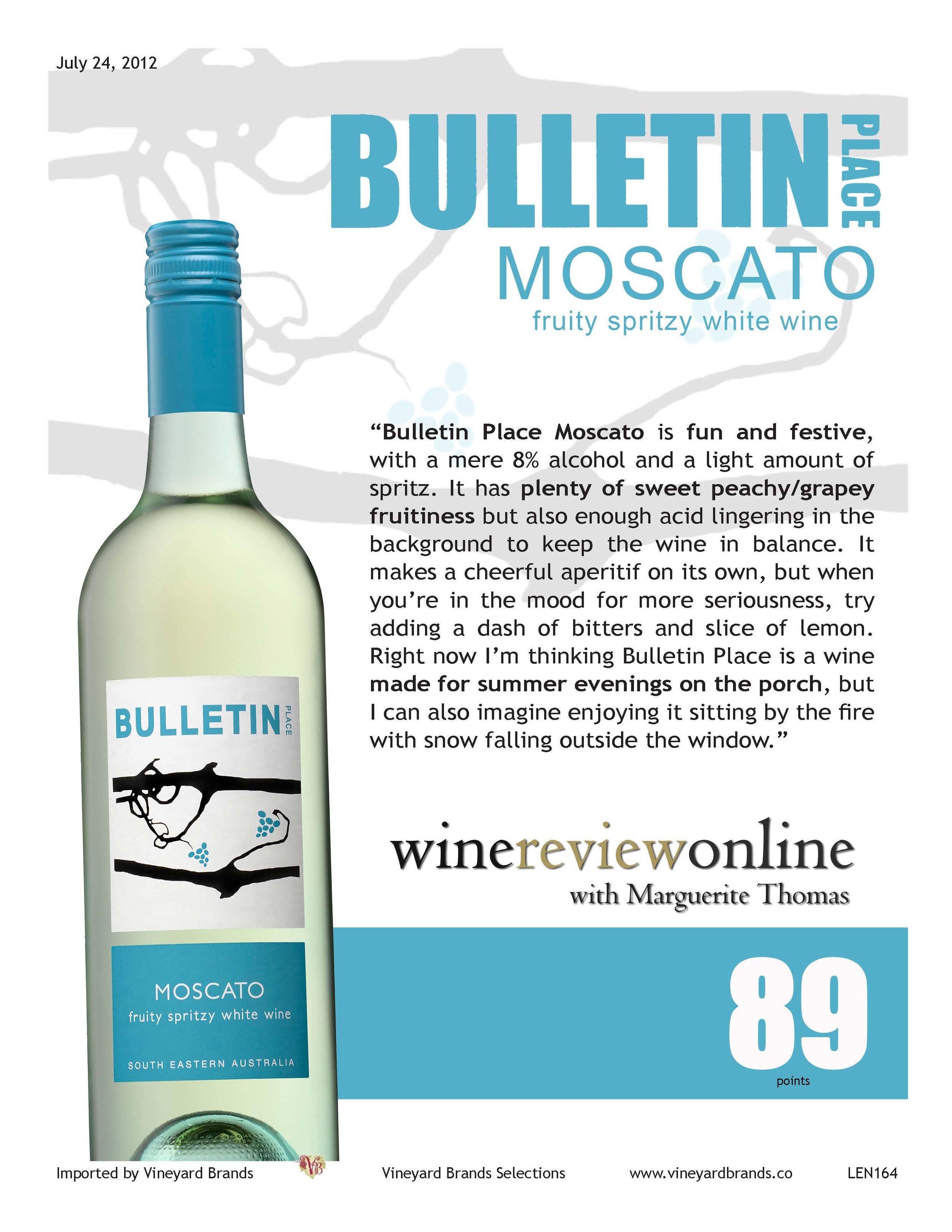Bulletin Place Moscato Dessert Wine