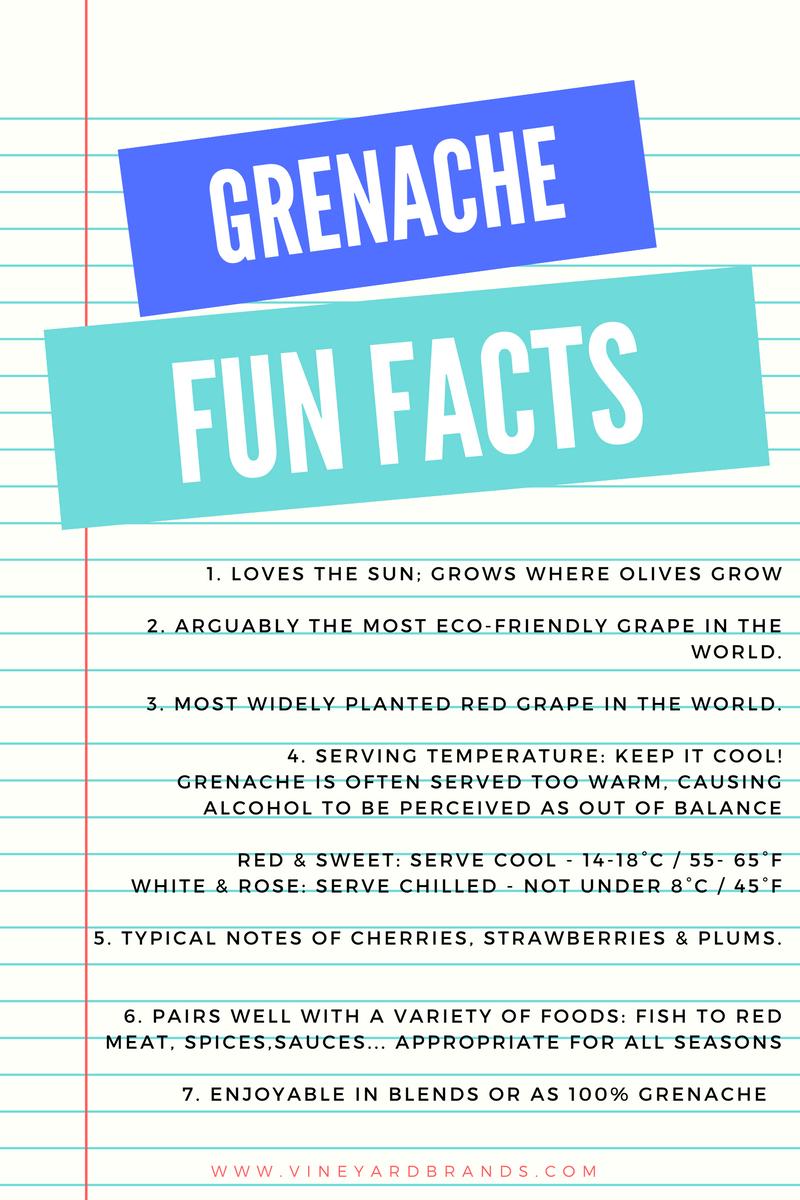 Grenache Wine Grape Fun Facts