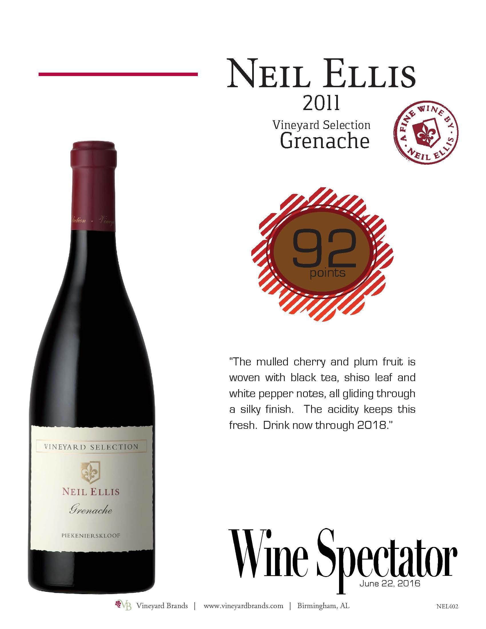 Neil Ellis Grenache 2011 Wine Spectator