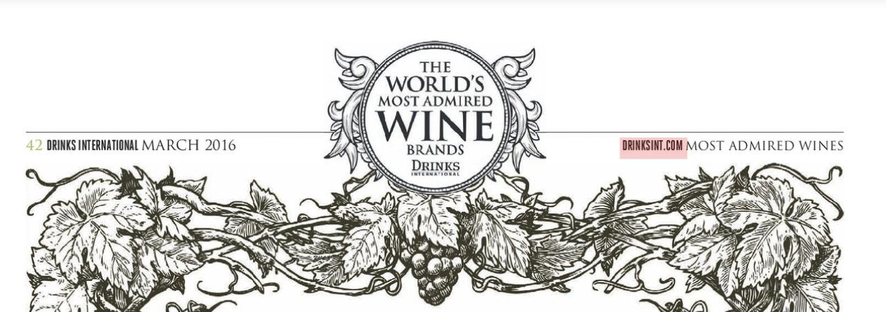 Drinks International:The World's Most Admired Wine Brands, ft. Cono Sur & Marqués de Cáceres | 03/2017