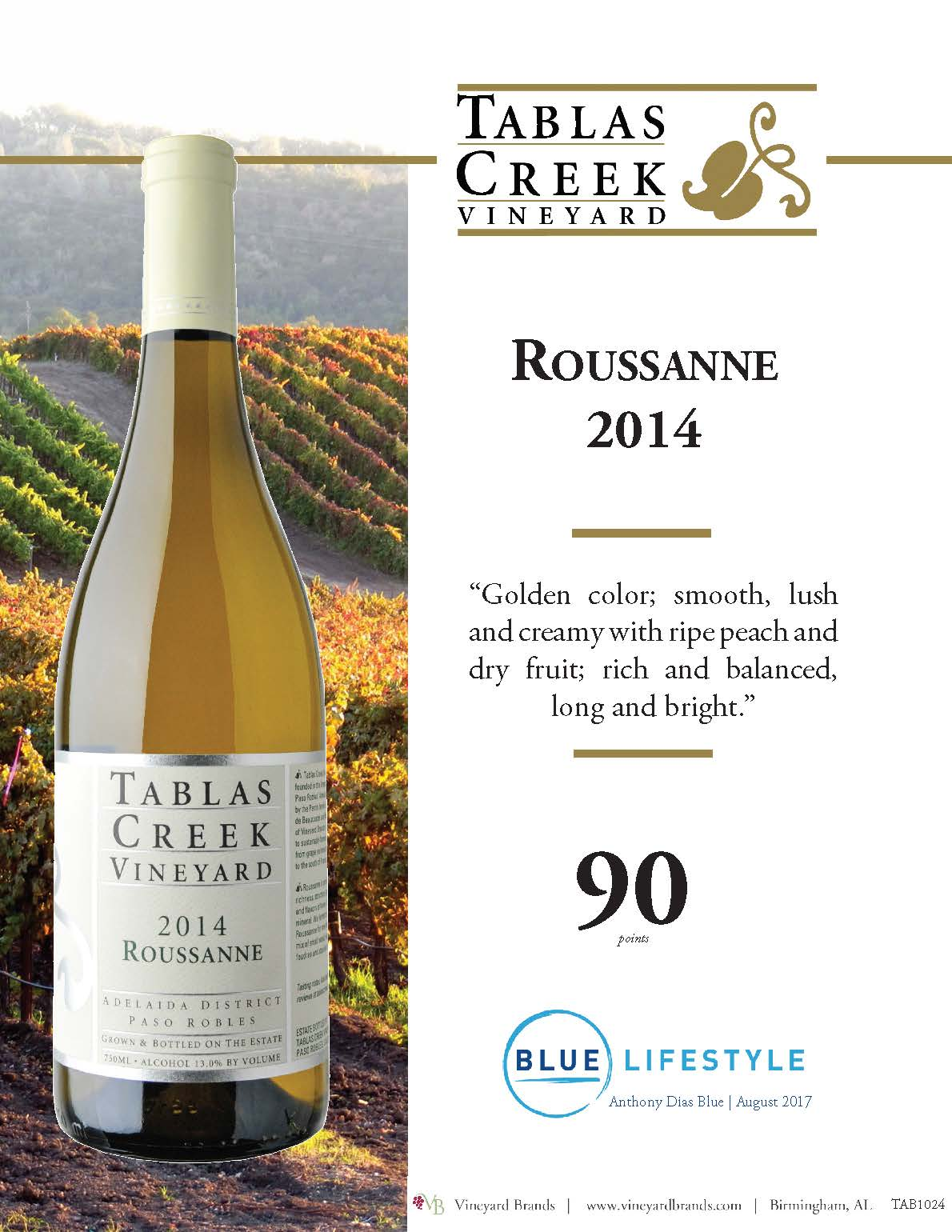 Tablas Creek Roussanne 2014.jpg