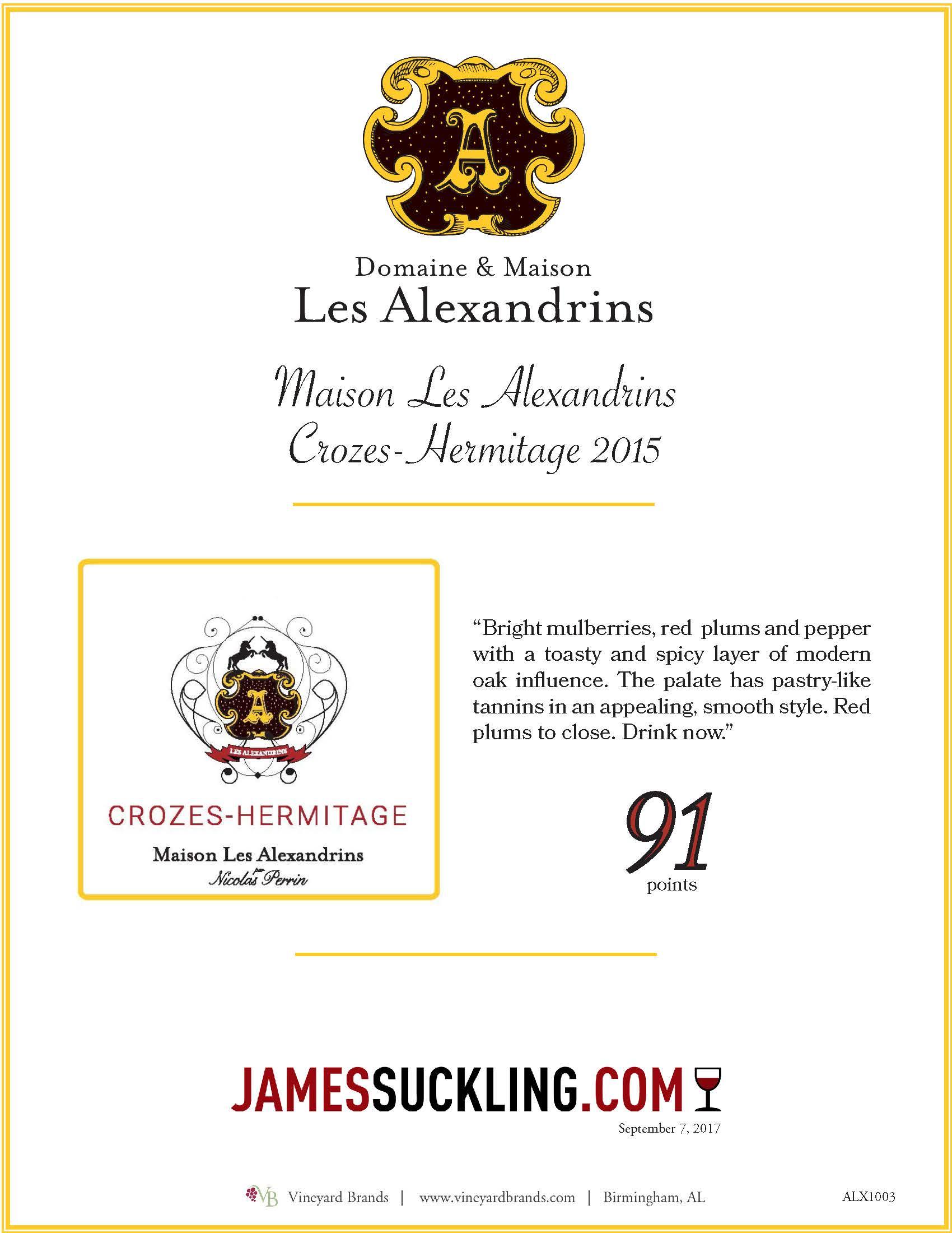 Maison Les Alexandrins Crozes Hermitage 2015.jpg