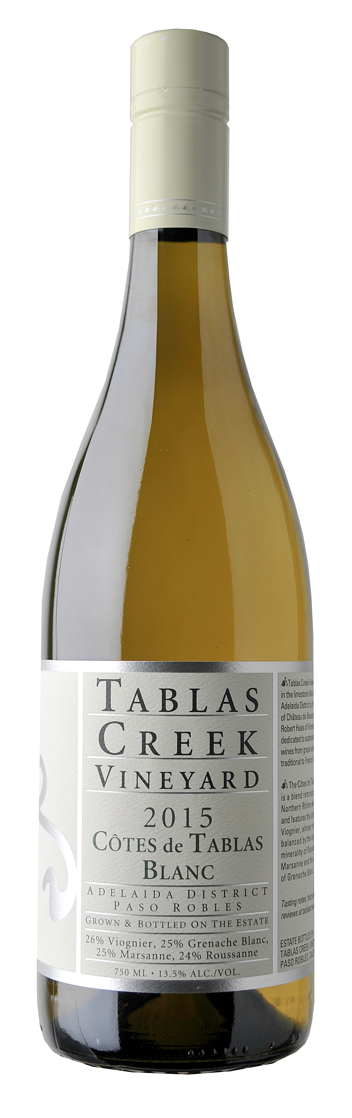Tablas Creek Côtes de Tablas Blanc 2015 Bottle.jpg