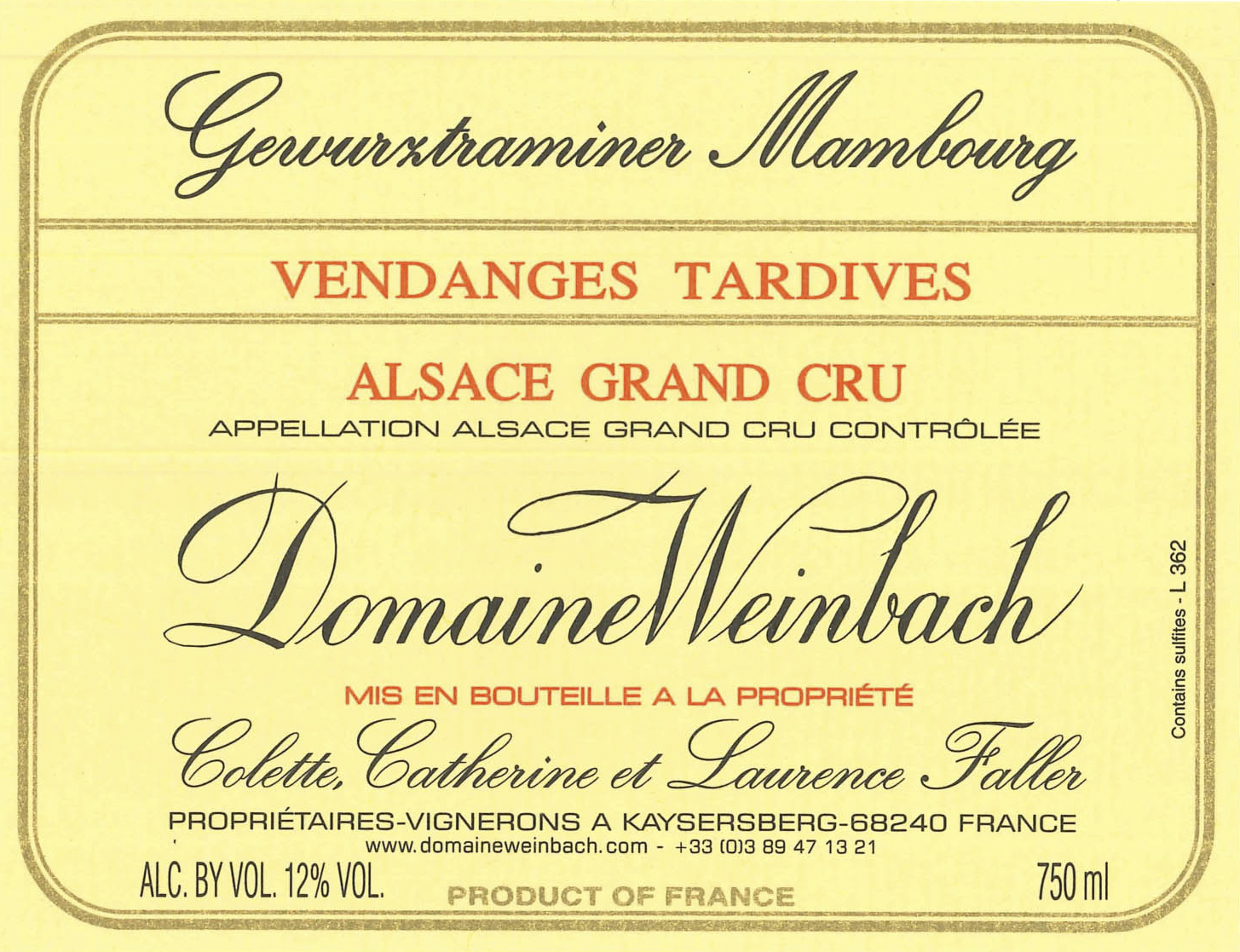 Weinbach Gewurztraminer Mambourg Vendanges Tardives Grand Cru Label.jpg