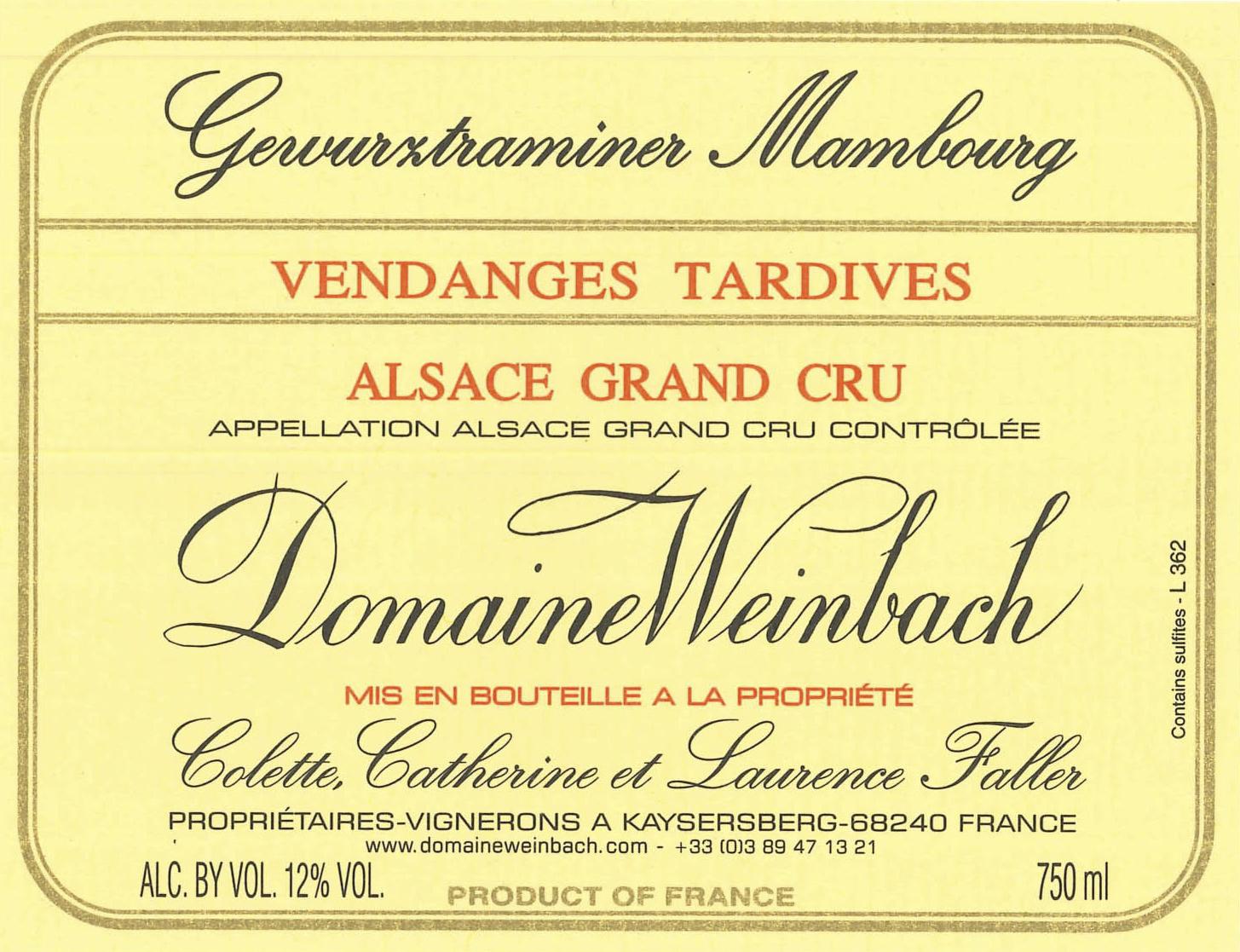 Weinbach Gewurztraminer Mambourg Vendanges Tardives Grand Cru Label.jpg