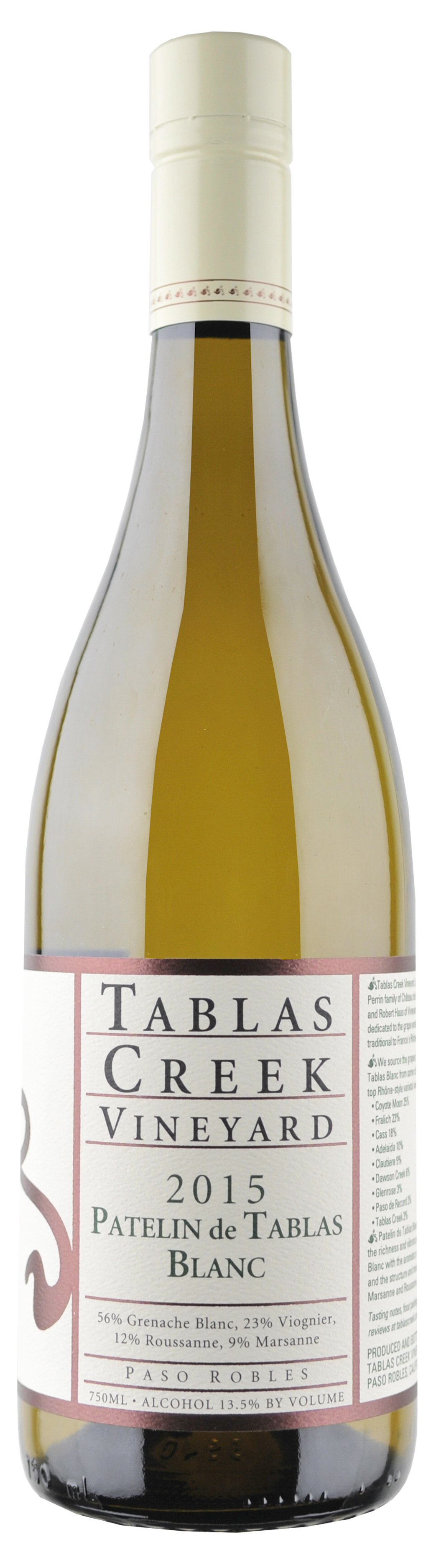 Tablas Creek Patelin de Tablas Blanc 2015 Bottle.jpg