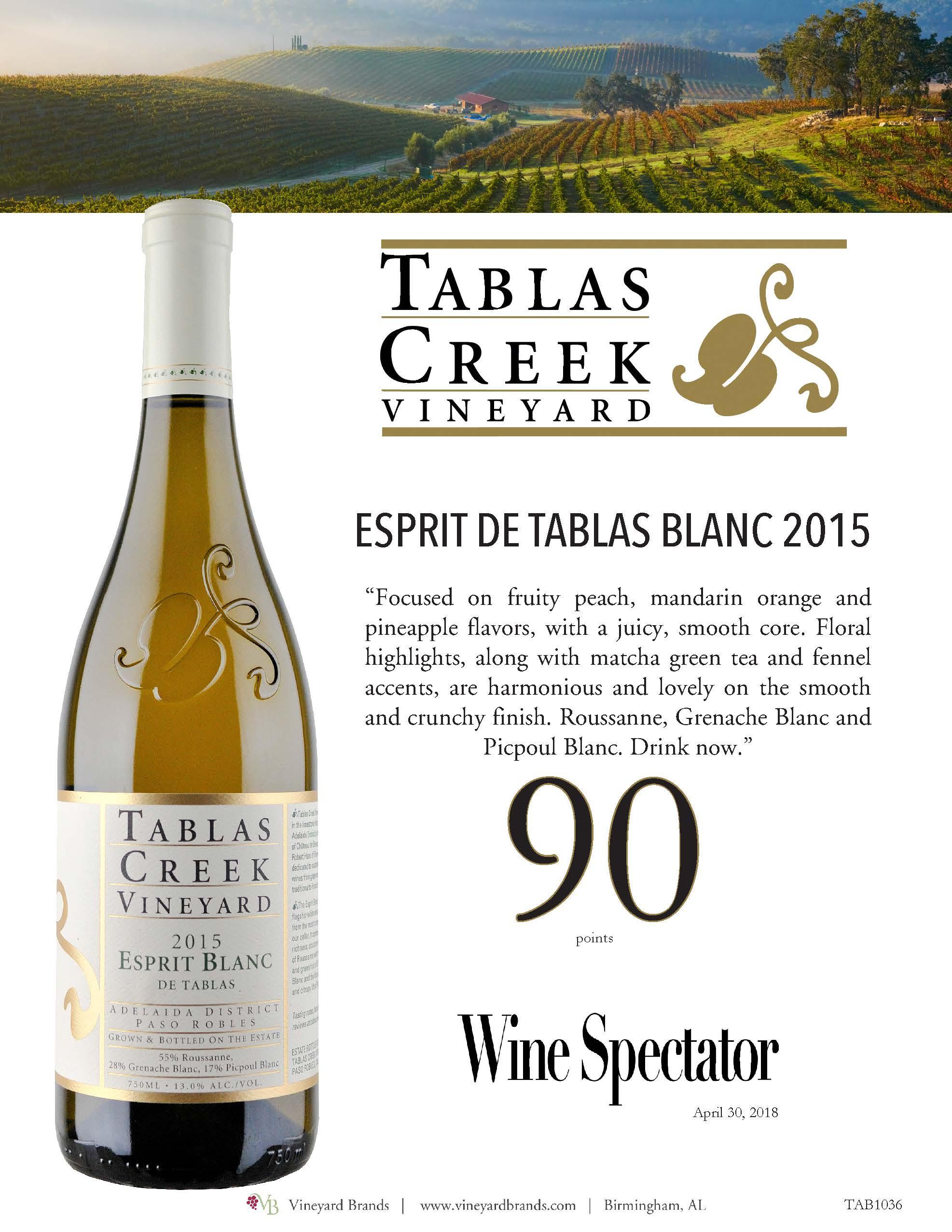Tablas Creek Esprit de Tablas BLanc 2015.jpg