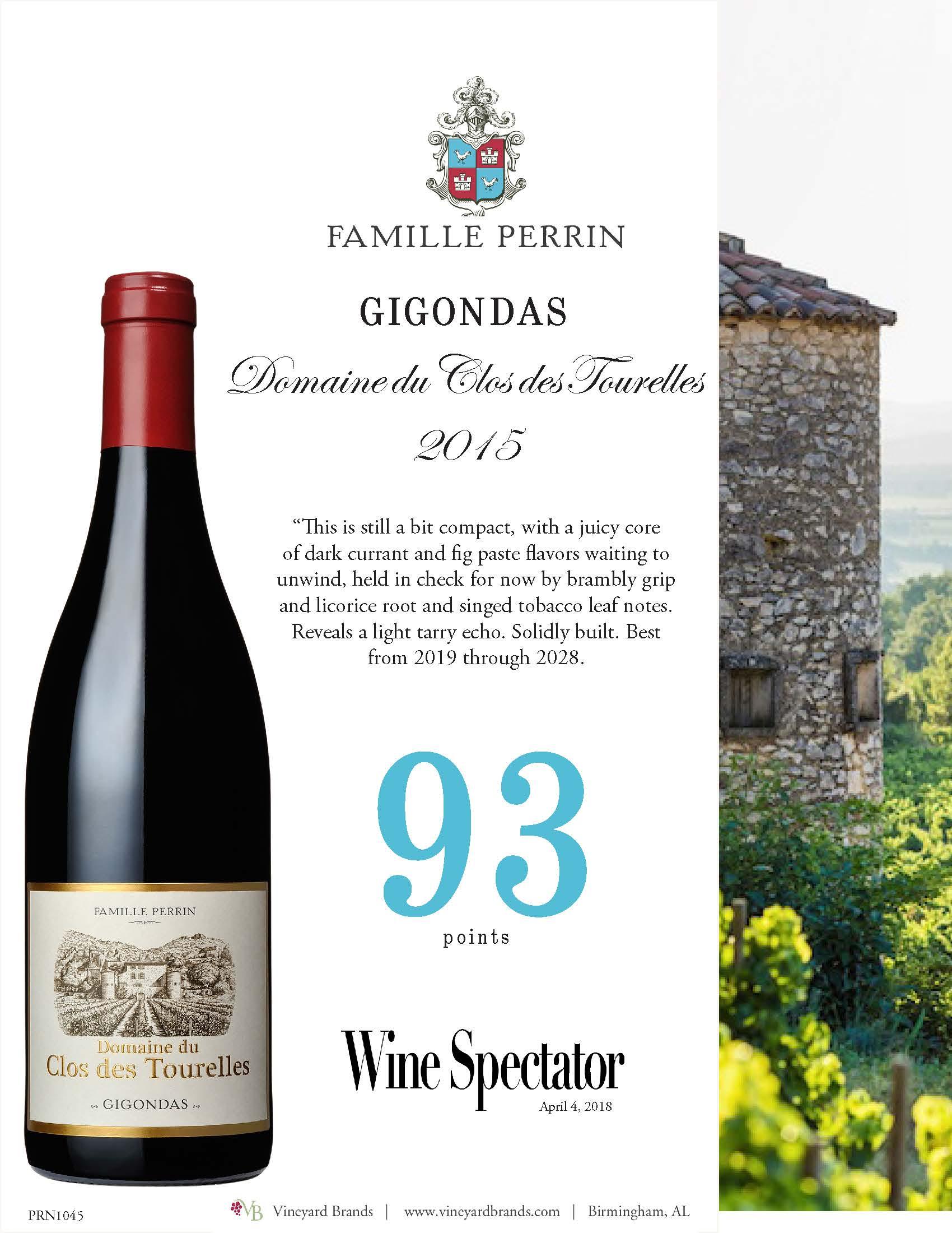 Famille Perrin Gigondas Domaine du Clos des Tourelles 2015.jpg