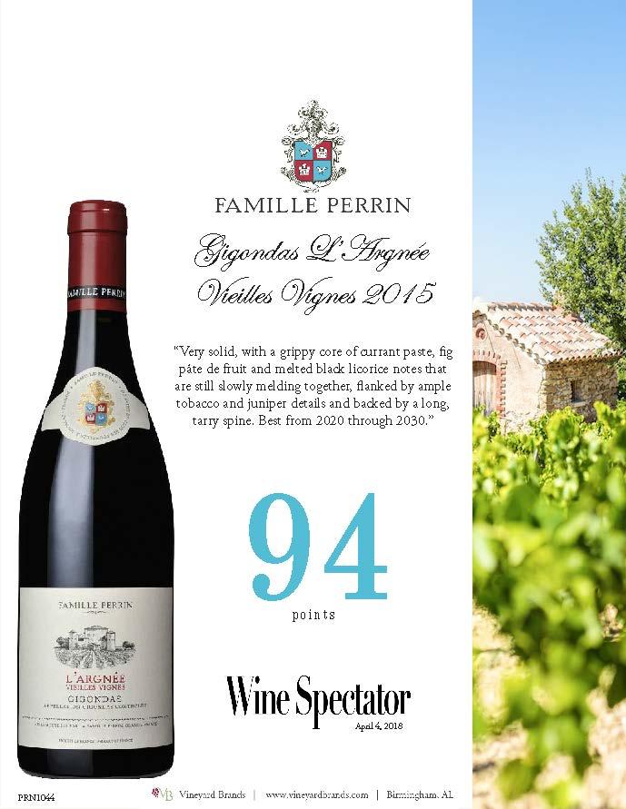 Famille Perrin Gigondas L'Argnee Vieilles Vignes 2015.jpg