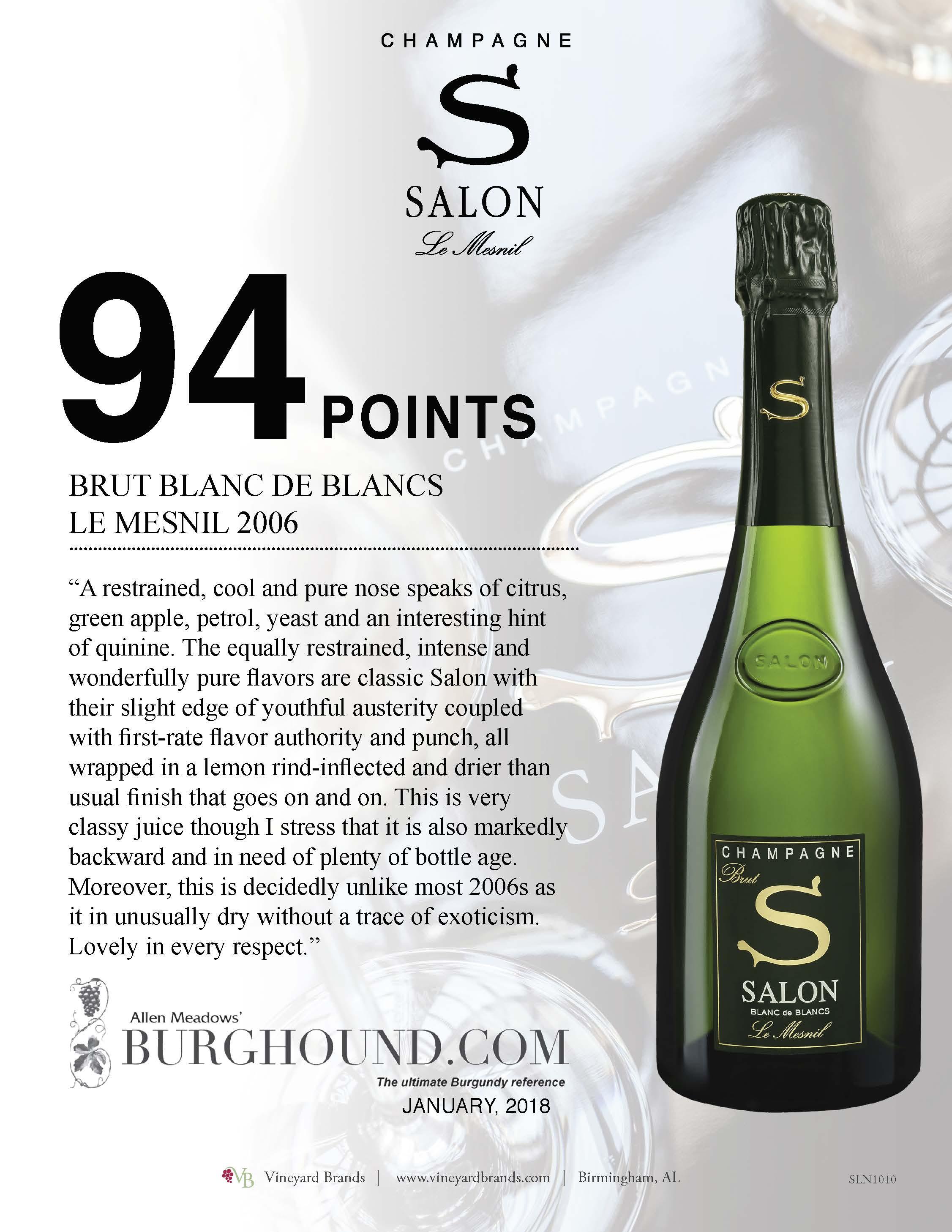 Champagne Salon Brut Blanc de Blancs 2006.jpg