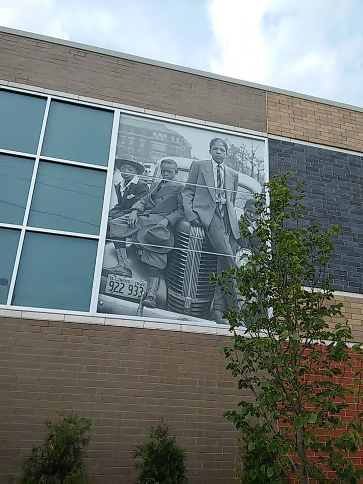 Boys of Bronzeville on the store wall along 39th St. and King Drive, Chicago