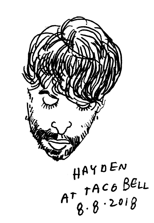 Drawing by  Jason Polan .