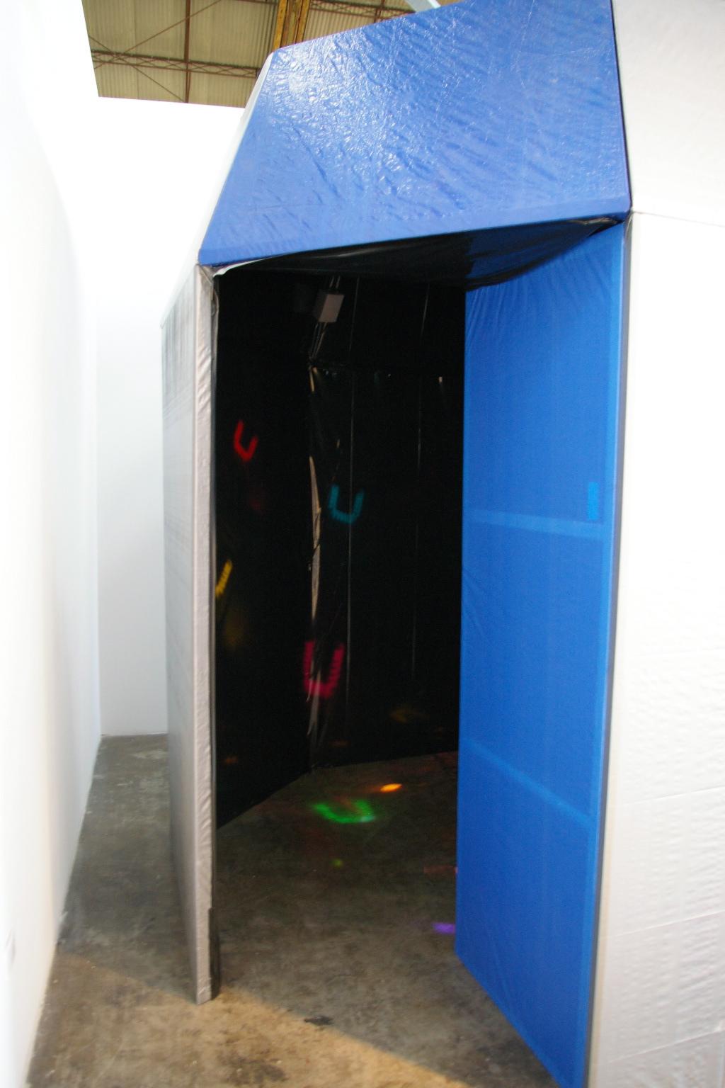 Mic Check 8'x8'x8' sound installation  2008.JPG