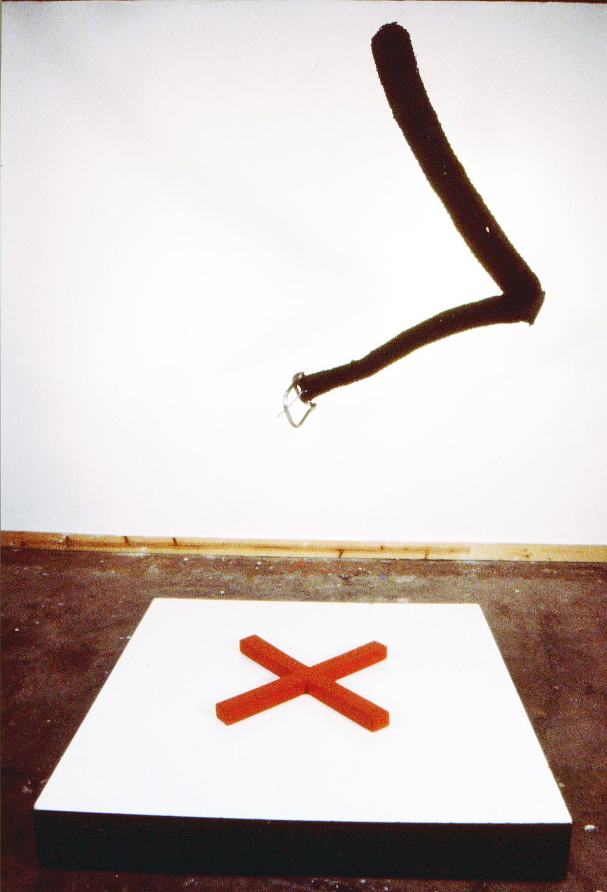 X Marks the Spot wood, leather installation 1998.jpg