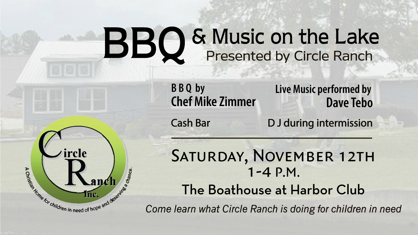 BBQ & Music on the Lake by Circle Ranch Inc.